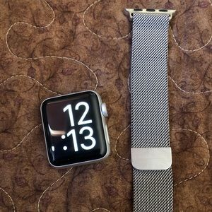 Accessories - Silver Milanese loop 38mm band